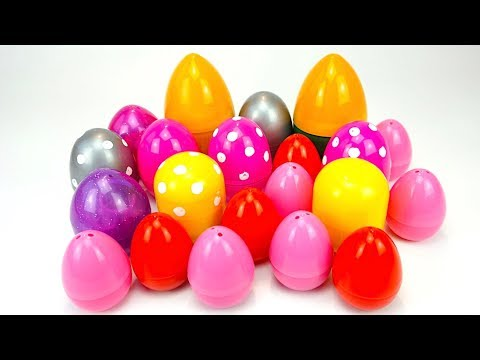 Сюрпризы и игрушки из мультиков для детей, открываем яйца видео