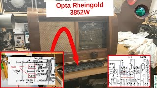 Durchsicht vor dem Einschalten nach über 50 Jahren - Opta 3852W Teil 1