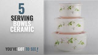 Top 10 Serving Bowls Ceramic [2018]: Blue Birds Serving Bowl With A Unique Floral Design Ceramic