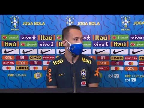 SELEÇÃO BRASILEIRA AO VIVO! Éverton Ribeiro e Rodrygo falam em entrevista