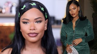 FULL GRWM FOR A BOOHOO HOLIDAY LAUNCH PARTY | Arnellarmon