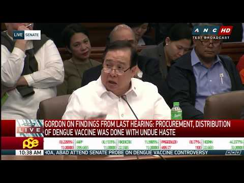WATCH: Senate resumes its hearing on dengue vaccine controversy