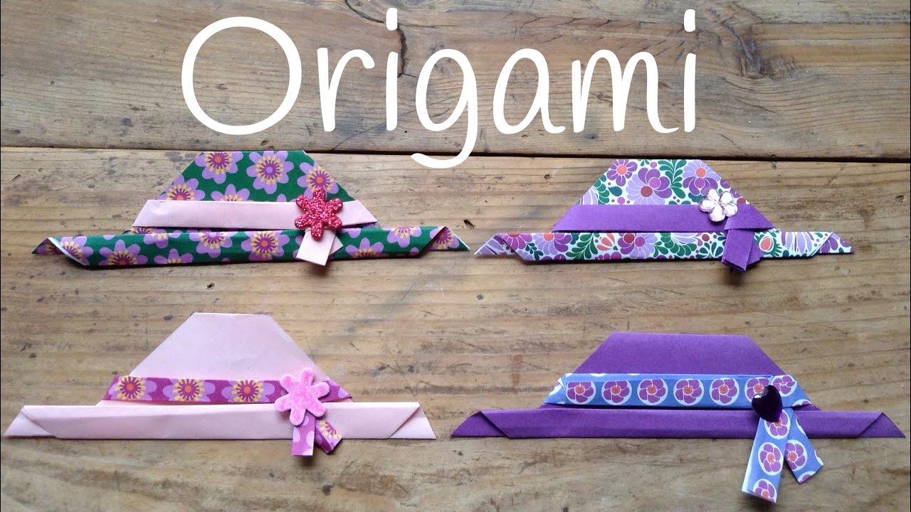 Cómo hacer un SOMBRERO de papel | Origami fácil para niños