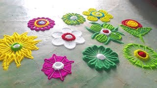 Diwali new colourful crakers rangoli designs | इस दिवाली पर बनाये Beautiful simple Rangoli Design