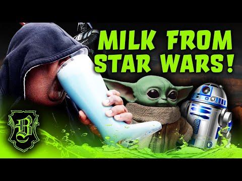 Chugging the Blue Milk from StarWars Darth Chugs Style!