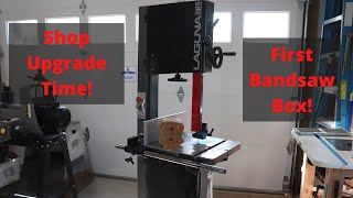 Unboxing our new Laguna 14BX woodworking bandsaw and making my first Bandsaw Box