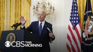 Biden holds first press conference as tensions heat up over Georgia state representative's arrest