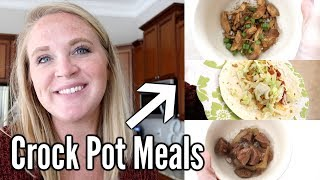 DUMP AND GO CROCK POT MEALS | QUICK & EASY CROCK POT DINNERS
