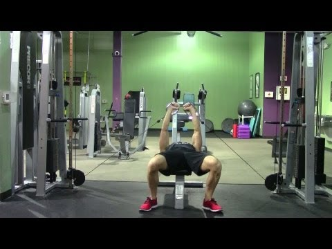 Lying Cable Chest Press - HASfit Chest Exercise Demonstration - Lying Cable Bench Press