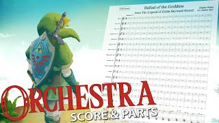 """Zelda: """"Ballad of the Goddess"""" - Orchestral Cover - Score & Parts"""