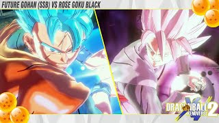 Future Gohan Blue destroy Rose Goku Black !? Dragonball Xenoverse 2 Mod Showcase