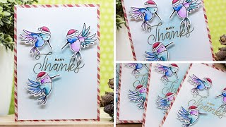 Christmas Thank You Card by Pretty Pink Posh