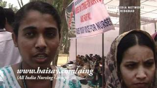 Asian-Hospital-Faridabad - Nurses Strike on from 7-05-2012