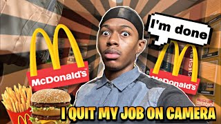 QUITTING MY MCDONALD'S JOB AFTER 1 DAY!!