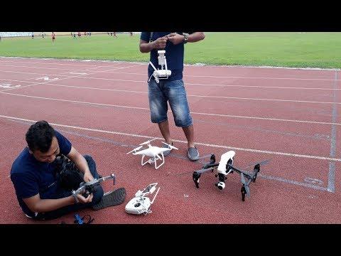 menerbangkan-drone-dji-inspire-di-stadion-wijaya-kusuma-cilacap