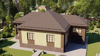 Проект дома 157-F, Площадь дома: 157 м2, Размер дома:  10,5x15,1 м