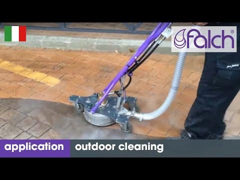 Idropulitrice ad alta pressione per la pulizia di superfici esterne. macchine e robot di pulizia