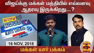 (16/11/2018) Makkal Yaar Pakkam: Do people support Actor Vijay in Politics?