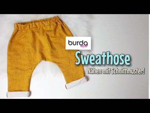 Sweathose mit Burda Baby Schnittmuster Nähanleitung - Nähtinchen