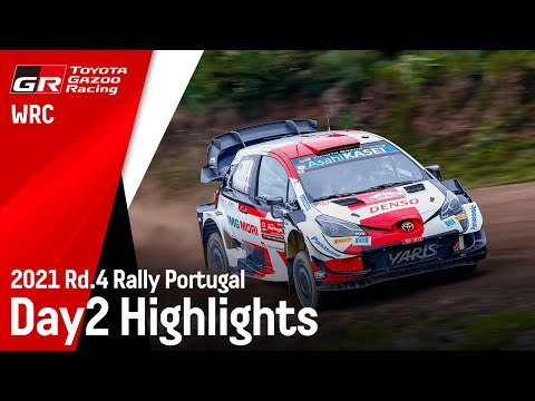エバンスがトップ ToyotaGazooRacing 第4戦ラリー・ポルトガル Day2ハイライト動画