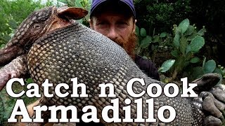 Catch and Cook ARMADILLO & LEPROSY! Ep14 | GRASS TORPEDOS! South Texas Survival Challenge