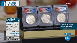 """1921 MS64 ICG PDS """"Last Year of Issue"""" Morgan Silver Dol..."""