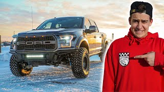 Lifting My Ford Raptor And Taking It Off Road!! (we Got Stuck) And Scaring People With Train Horn