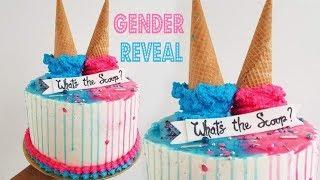 Ice Cream Drip Gender Reveal Cake | Marishas Couture Cakes