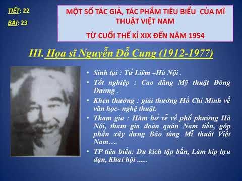 Mỹ Thuật Lớp 7: Mỹ Thuật Việt Nam, Một Số Tác Giả, Tác Phẩm Tiêu Biểu Cuối TK XIX Đến 1954