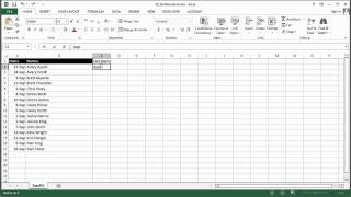 How to Sort a Name List by Same Names in MS Excel : Using Excel & Spreadsheets