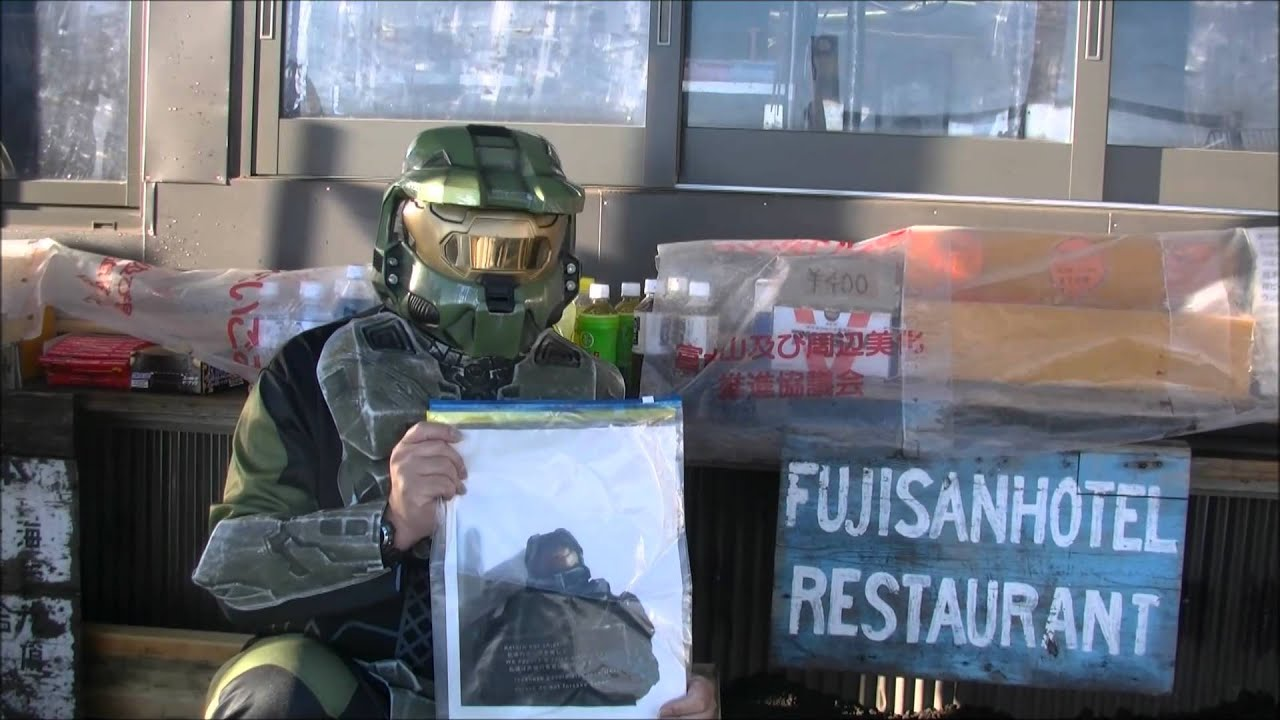 Japanese Halo Fan Cosplays As Master Chief, Climbs Mt Fuji In Protest