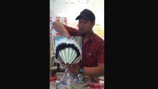 How to install a lamp shade