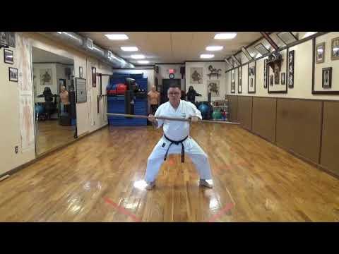Isshin Ryu Tokumine no Kun Bo Kata by Michael Calandra