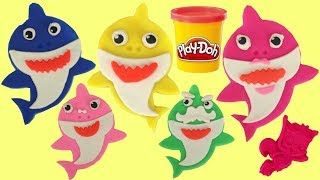 Pinkfong's Baby Shark Song Play Doh Set With Mold, Cutter & Plush Toys