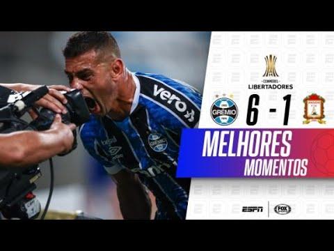 MASSACRE COM HAT-TRICK DE DIEGO SOUZA! Melhores momentos de Grêmio 6x1 Ayacucho na Libertadores