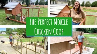 How To BUILD The PERFECT MOBILE CHICKEN COOP // DIY EASY To Use And Build BACKYARD Chicken Coop