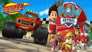 BLAZE and THE MONSTER MACHINES Dragon Island Race + PAW PATROL Academy (Nick Jr Games)