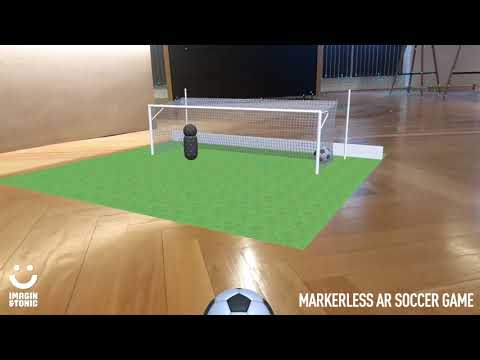 Markerless augmented reality soccer game