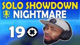 19 KILL SOLO SHOWDOWN NIGHTMARE | RIP DAEQUAN?? | RANKED GAMEPLAY - (Fortnite Battle Royale)