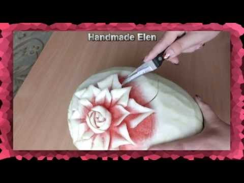 Art  Watermelon Carving How to make a watermelon carving   Art with fruit and vegetables