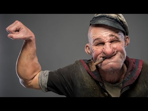 Popeye Make-up Demo from Doctor Who and SNL Make-up Artists