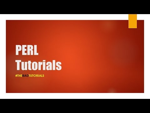 Perl Tutorial – 1: Introduction, Installation, First Script!