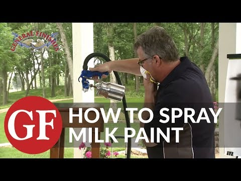 How to Spray General Finishes Milk Paint
