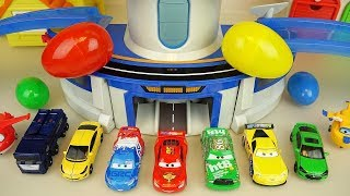 cars and car toys station surprise eggs play
