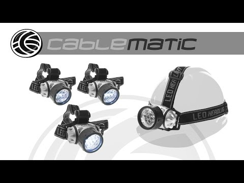 Linterna frontal LED para la cabeza o casco distribuido por CABLEMATIC ®