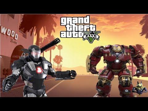 GTA 5 PC Mods - WAR MACHINE Iron Man Mod!!! GTA 5 War