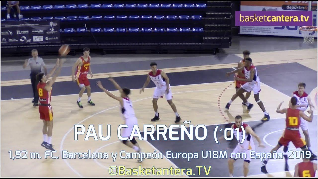 PAU CARREÑO (´01) 1,92 m. Campeón de Europa Selec. Española U18 y Fc Barcelona (BasketCantera.TV)