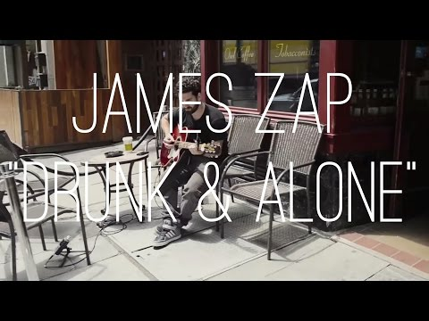 "James Zap - ""Drunk & Alone"" (Acoustic) in front of the Owl Shop"