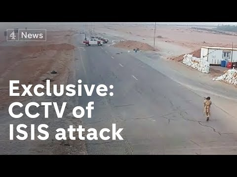 Exclusive: CCTV of Isis attack on Libya