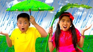 Rain Rain Go Away Song | Emma & Jannie Sing-Along Nursery Rhymes Kids Songs